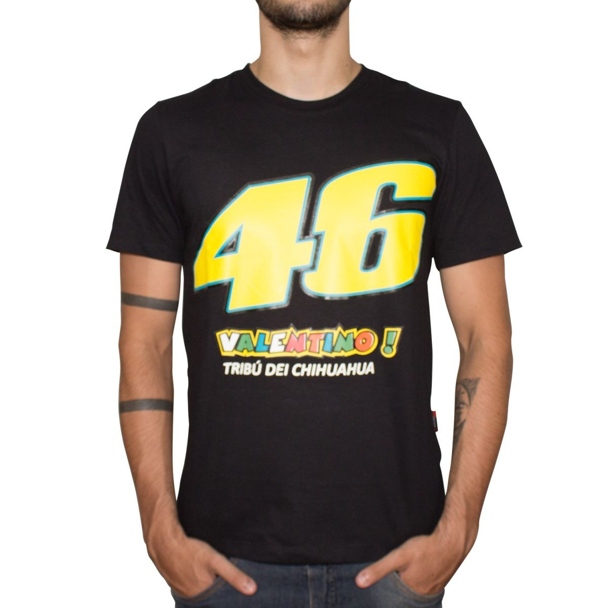 Camiseta Speed Race 46 Tribú Dei Chihuahua (Preta) Lançamento!!  - Super Bike - Loja Oficial Alpinestars