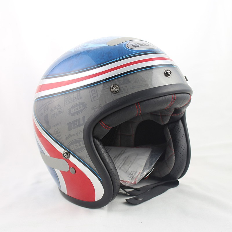 Capacete Bell Custom 500 Airtrix Heritage Blue Red Lançamento!!  - Super Bike - Loja Oficial Alpinestars
