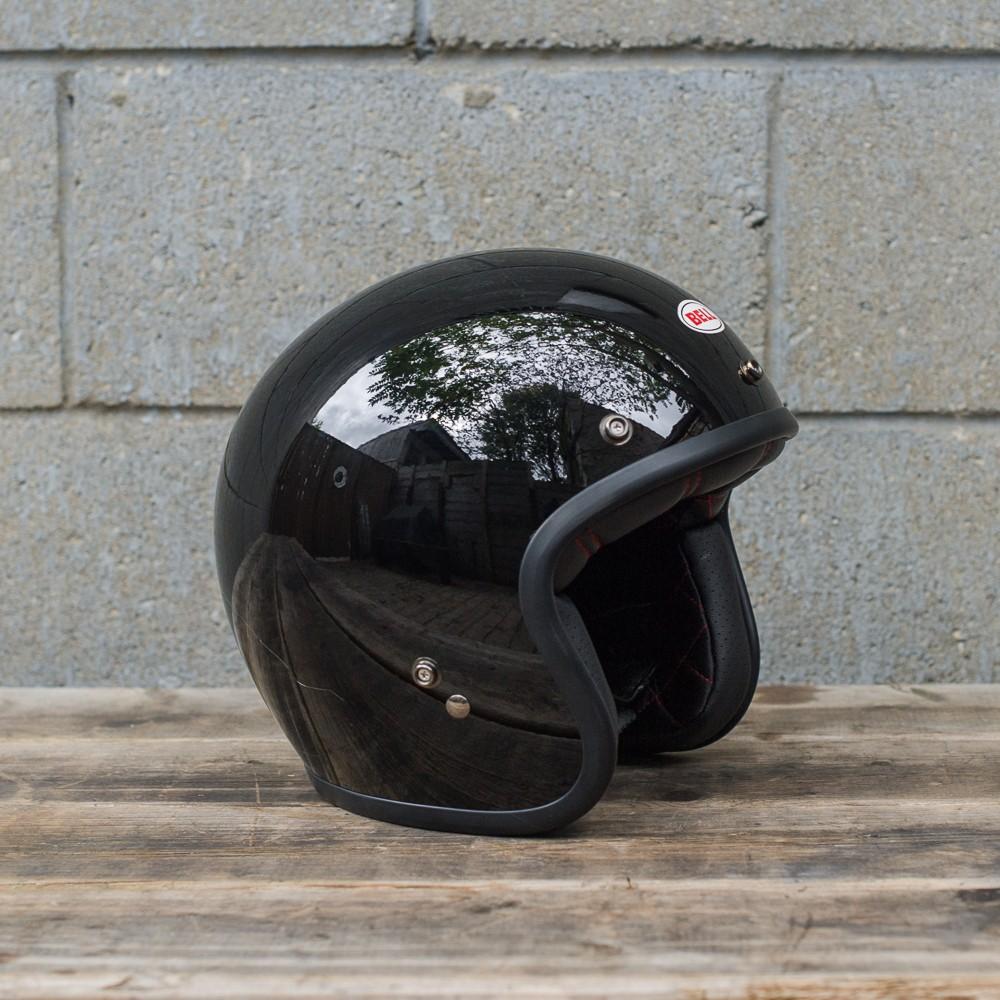 Capacete Bell Custom 500 Black Liso  - Super Bike - Loja Oficial Alpinestars