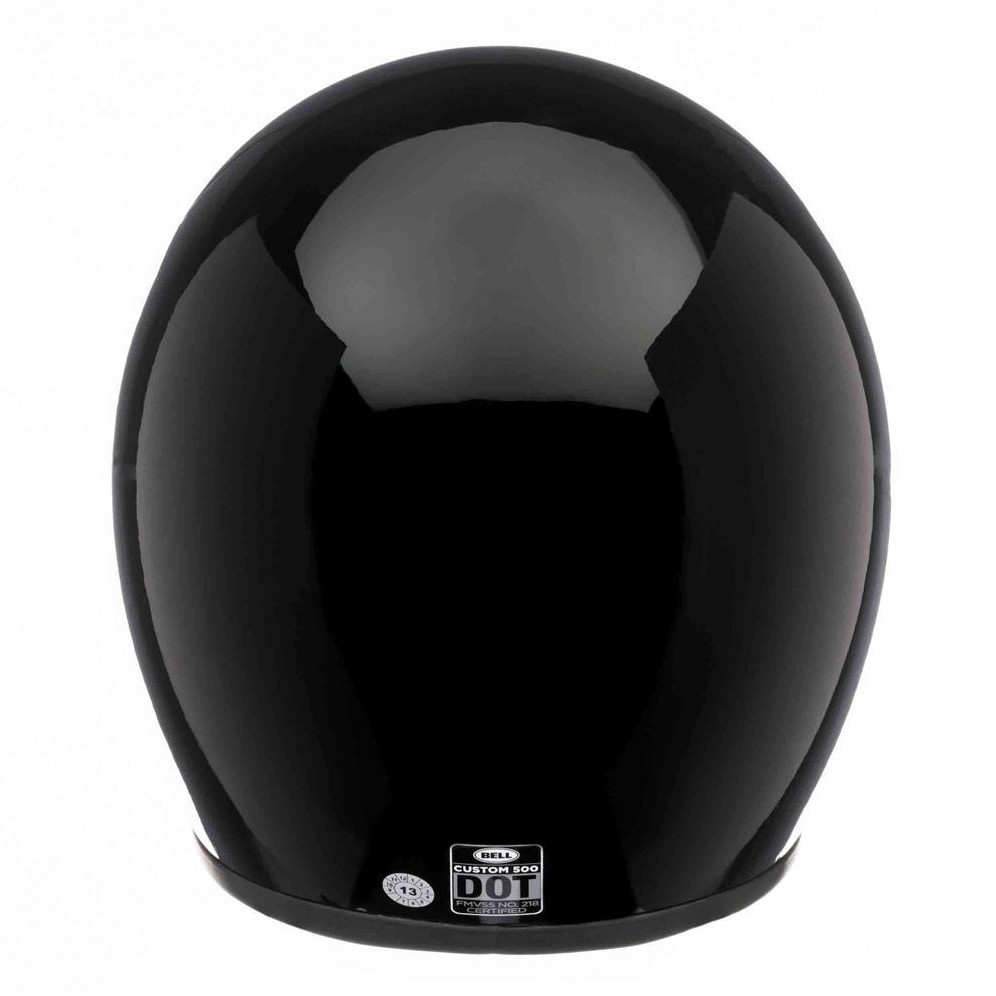 Capacete Bell Custom 500 - Preto Liso  - Super Bike - Loja Oficial Alpinestars