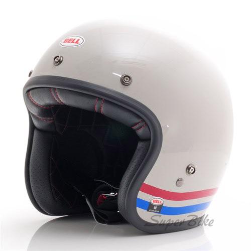 Capacete Bell Custom 500 Stripes Pearl White Lançamento!!  - Super Bike - Loja Oficial Alpinestars