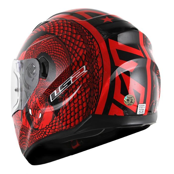 Capacete LS2 FF320 Stream Snake Red  - Super Bike - Loja Oficial Alpinestars