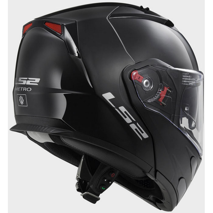 Capacete LS2 FF324 Metro Mono Black Matt Escamoteável!  - Super Bike - Loja Oficial Alpinestars