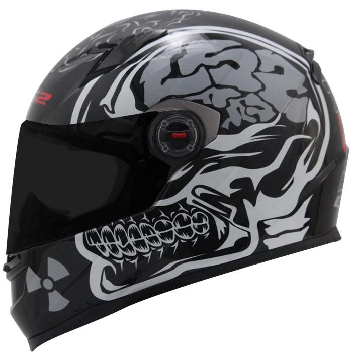 Capacete LS2 FF358 Crazy Skull Black  - Super Bike - Loja Oficial Alpinestars