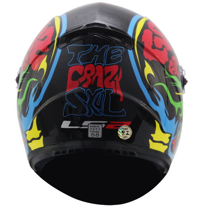 Capacete LS2 FF358 Crazy Skull Blue  - Super Bike - Loja Oficial Alpinestars