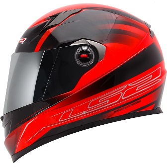 Capacete Ls2 FF358 Iron Vermelho  - Super Bike - Loja Oficial Alpinestars