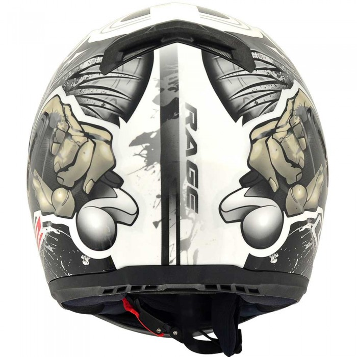 Capacete LS2 FF358 Rage Gloss Cinza - Ganhe Boné LS2 !!  - Super Bike - Loja Oficial Alpinestars