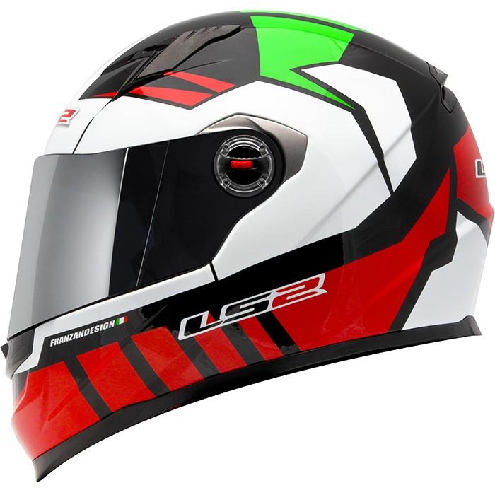 Capacete LS2 FF358 Voltage Red/Green  - Super Bike - Loja Oficial Alpinestars