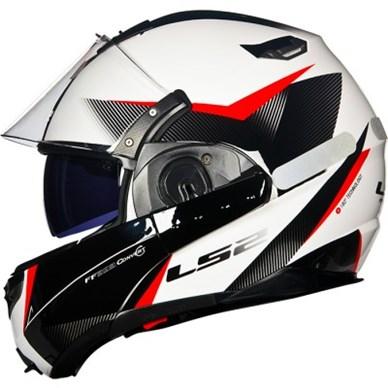 Capacete LS2 FF393 Hawk Preto e Vermelho Escamoteável  - Super Bike - Loja Oficial Alpinestars