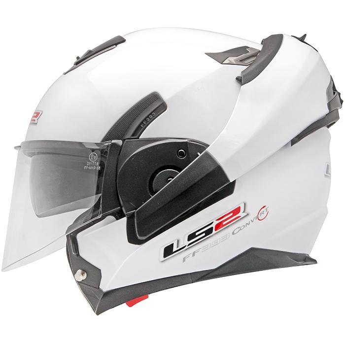 Capacete LS2 FF393 Mono Gloss White Escamoteável  - Super Bike - Loja Oficial Alpinestars
