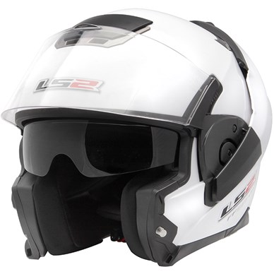 Capacete LS2 FF393 Mono Gloss White Escamote�vel  - Super Bike - Loja Oficial Alpinestars