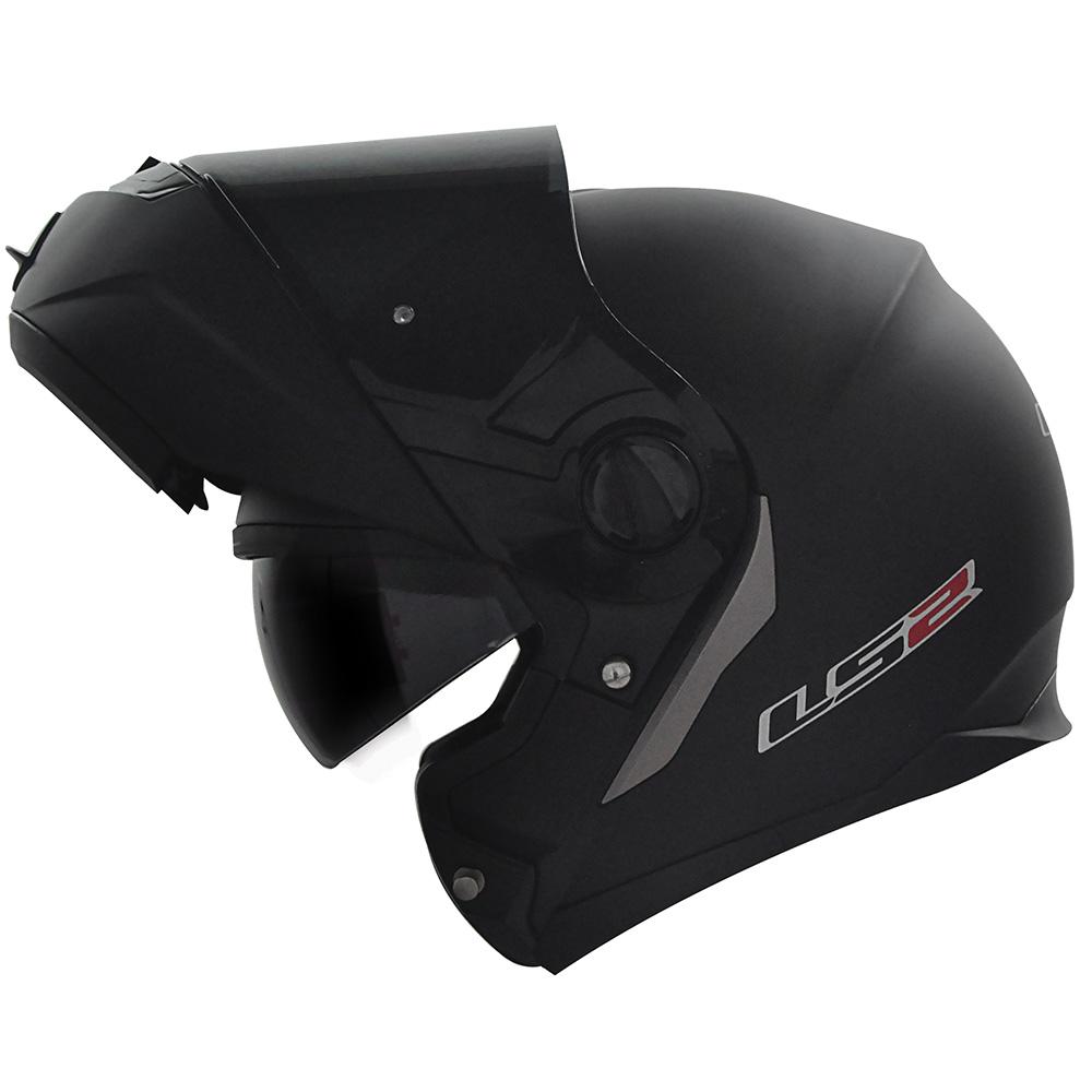 Capacete LS2 FF393 Mono Matt Black Escamoteável  - Super Bike - Loja Oficial Alpinestars
