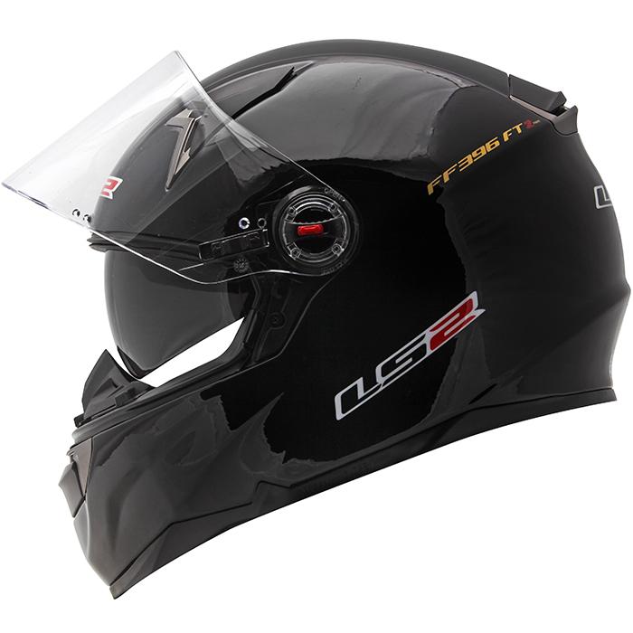 Capacete LS2 FF396 Monocolor Gloss Black c/ óculos NOVO!  - Super Bike - Loja Oficial Alpinestars