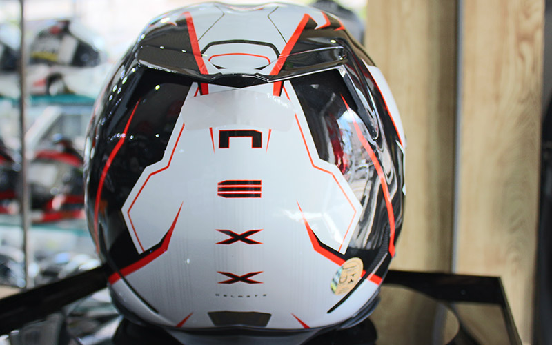 Capacete Nexx XR2 Vortex Branco e Vermelho  - Super Bike - Loja Oficial Alpinestars