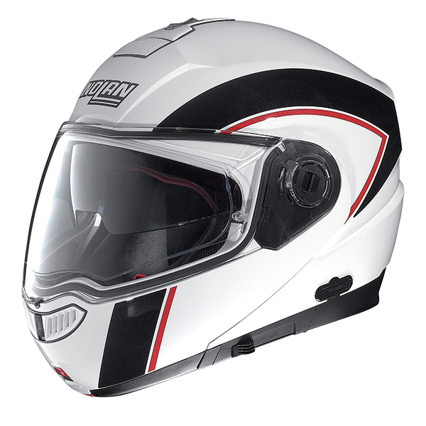 Capacete Nolan N104 Evo Scovery N-Com WHITE/BLACK RED Escamote�vel  - Super Bike - Loja Oficial Alpinestars