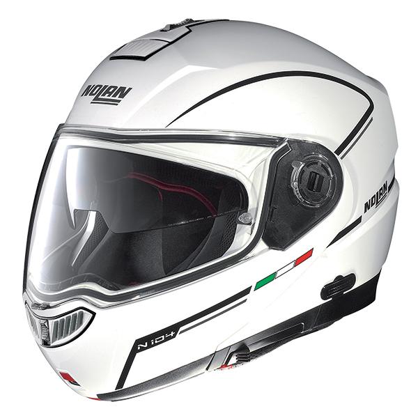 Capacete Nolan N104 Evo Storm N-Com METAL WHITE Escamote�vel  - Super Bike - Loja Oficial Alpinestars