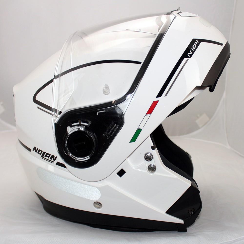Capacete Nolan N104 Evo Storm N-Com METAL WHITE Escamoteável  - Super Bike - Loja Oficial Alpinestars