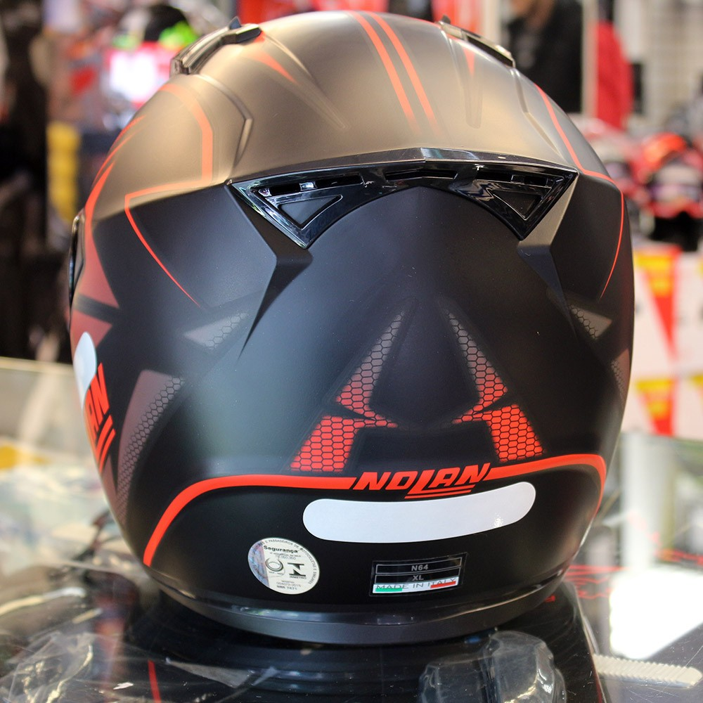 Capacete Nolan N64 Flazy Black Red   - Super Bike - Loja Oficial Alpinestars