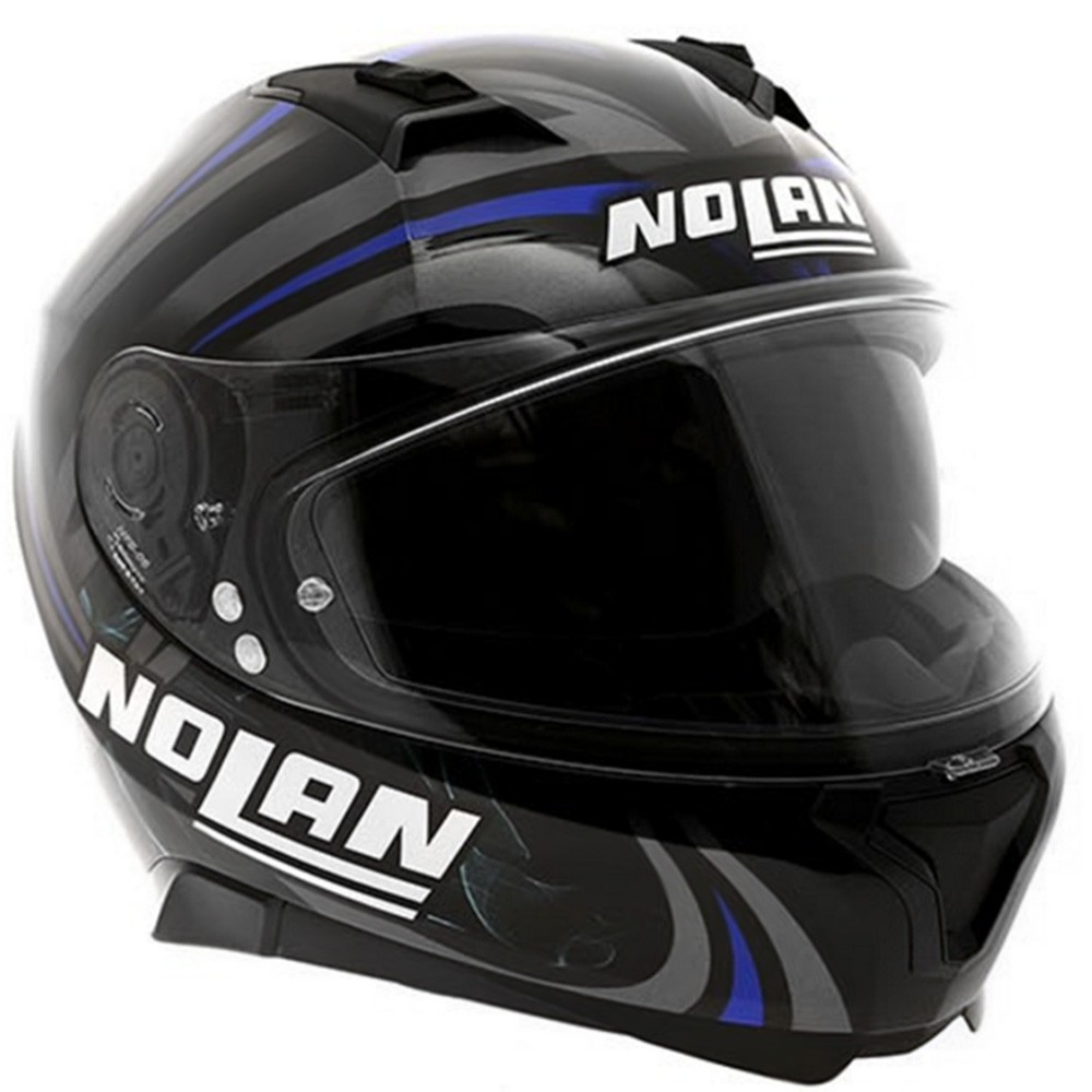 Capacete Nolan N87 Led Light N-Com Glossy Black   - Super Bike - Loja Oficial Alpinestars