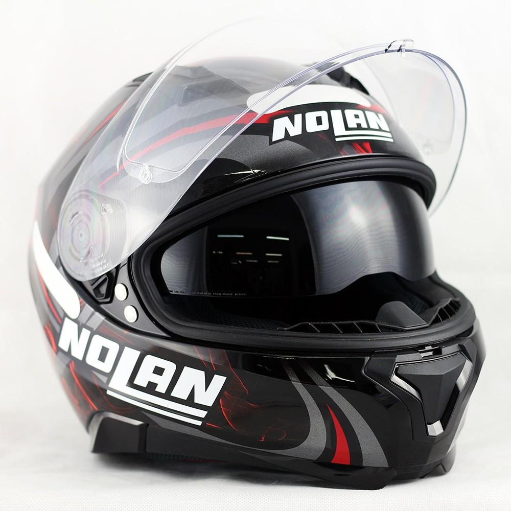 Capacete Nolan N87 Led Light Glossy Red Com Viseira Solar e Pinlock  - Super Bike - Loja Oficial Alpinestars