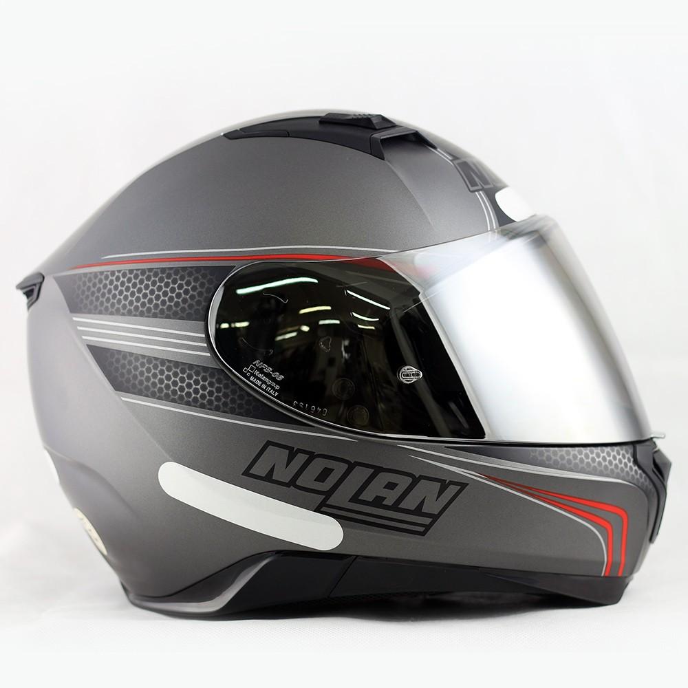 Capacete Nolan N87 Rapid Flat Lava Grey Com Viseira Solar e Pinlock  - Super Bike - Loja Oficial Alpinestars