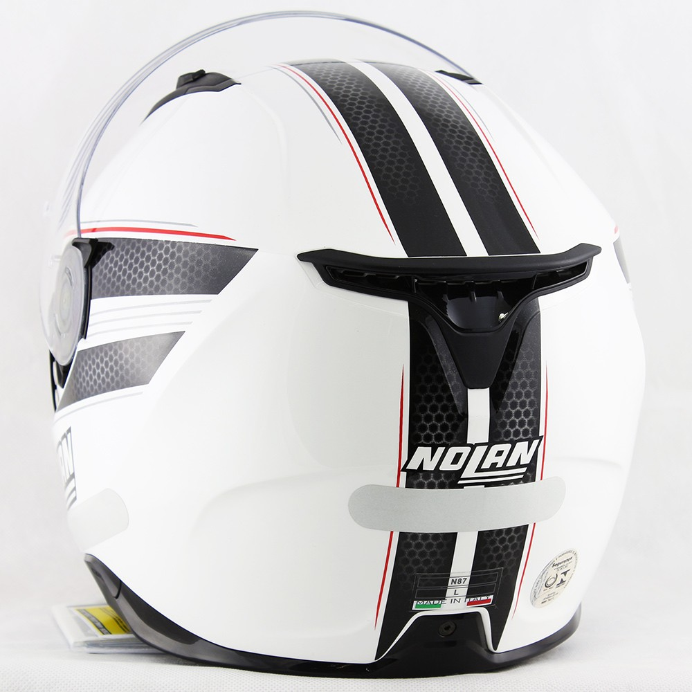 Capacete Nolan N87 Rapid Metal White Com Viseira Solar e Pinlock  - Super Bike - Loja Oficial Alpinestars