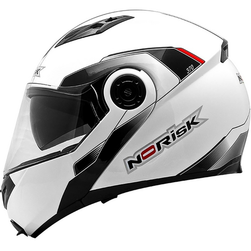 Capacete NoRisk FF370 Midnight Branco Escamoteável   - Super Bike - Loja Oficial Alpinestars