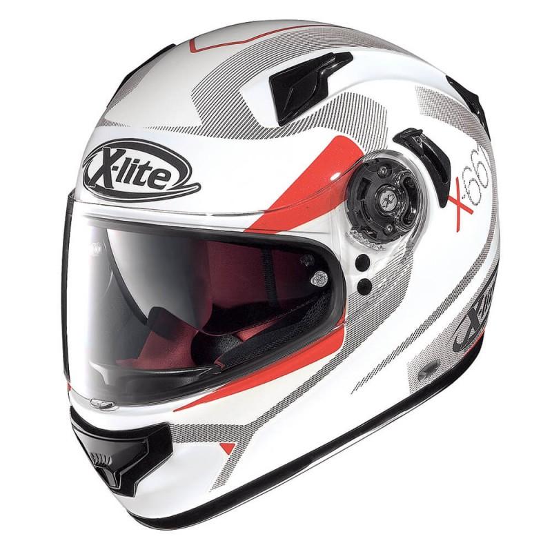Capacete X-LITE X-661 Point-Croix N-Com Metal White Lançamento!!  - Super Bike - Loja Oficial Alpinestars