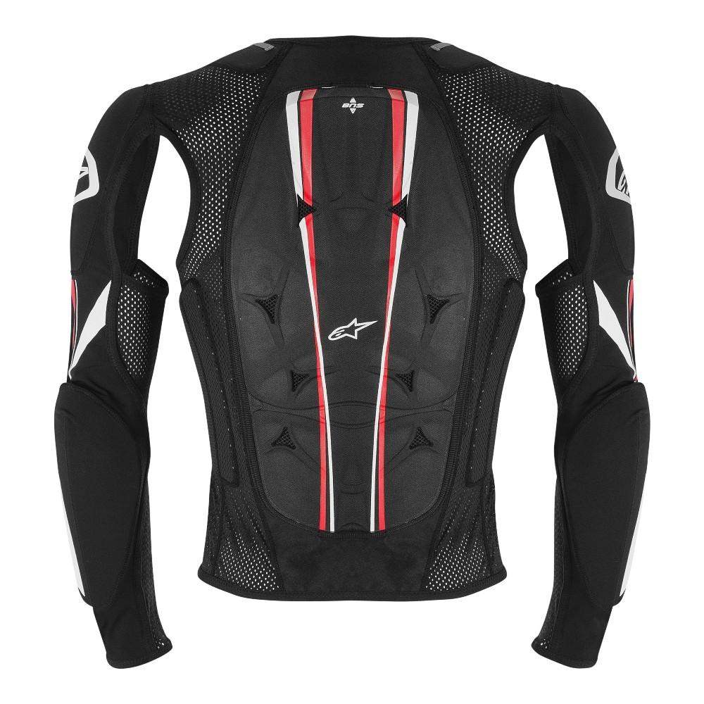Colete Alpinestars Bionic Pro Preto/Vermelho/Branco  - Super Bike - Loja Oficial Alpinestars