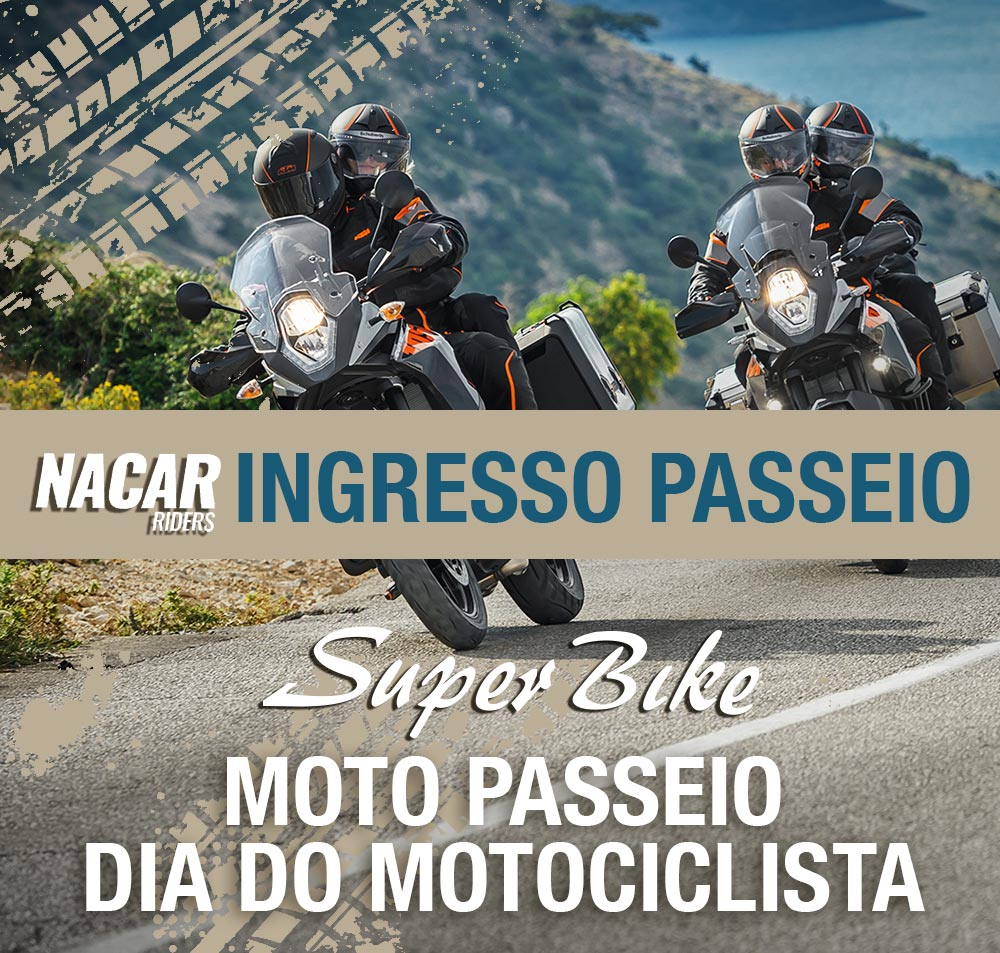 Ingresso Moto Passeio 23/07  - Super Bike - Loja Oficial Alpinestars