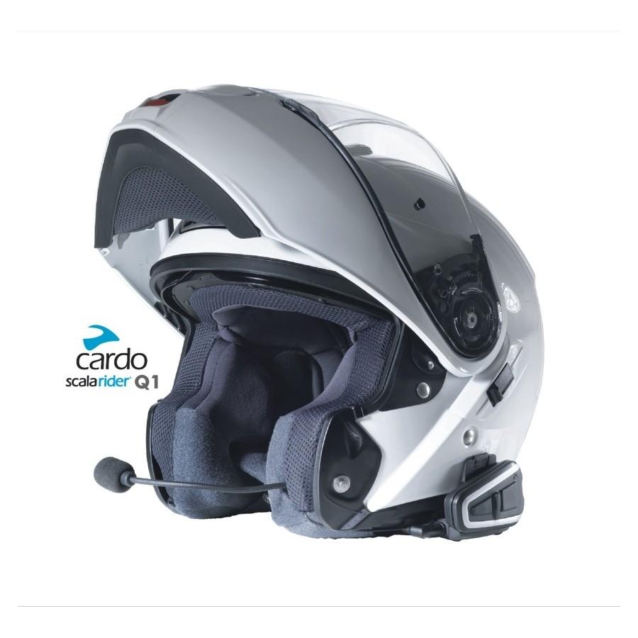 Intercomunicador Bluetooth Cardo Scala Rider Q1 Team Set  - Super Bike - Loja Oficial Alpinestars