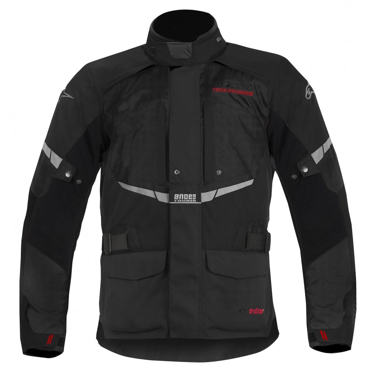 Jaqueta Alpinestars Andes Drystar® WP Preta (COMPRE JUNTO!) para Big Trail  - Super Bike - Loja Oficial Alpinestars