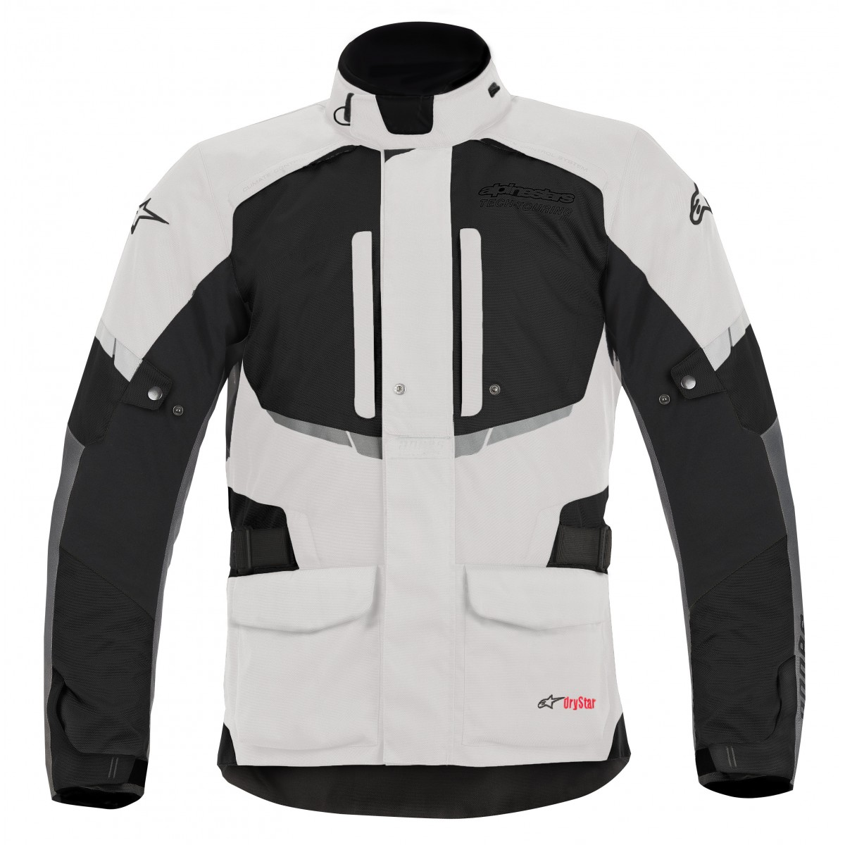 Jaqueta Alpinestars Andes Drystar® Cinza Claro/Preta Impermeável - Só XL/2XL/3XL  - Super Bike - Loja Oficial Alpinestars