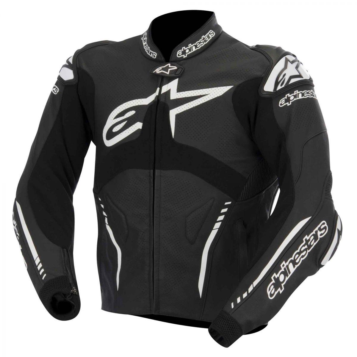 Jaqueta Alpinestars Atem Couro ( Black) Outlet Semana do Consumidor!  - Super Bike - Loja Oficial Alpinestars