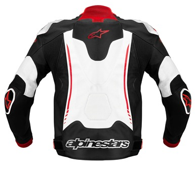Jaqueta Alpinestars Atem Couro (White/Red/Black)  Outlet Semana do Consumidor!  - Super Bike - Loja Oficial Alpinestars