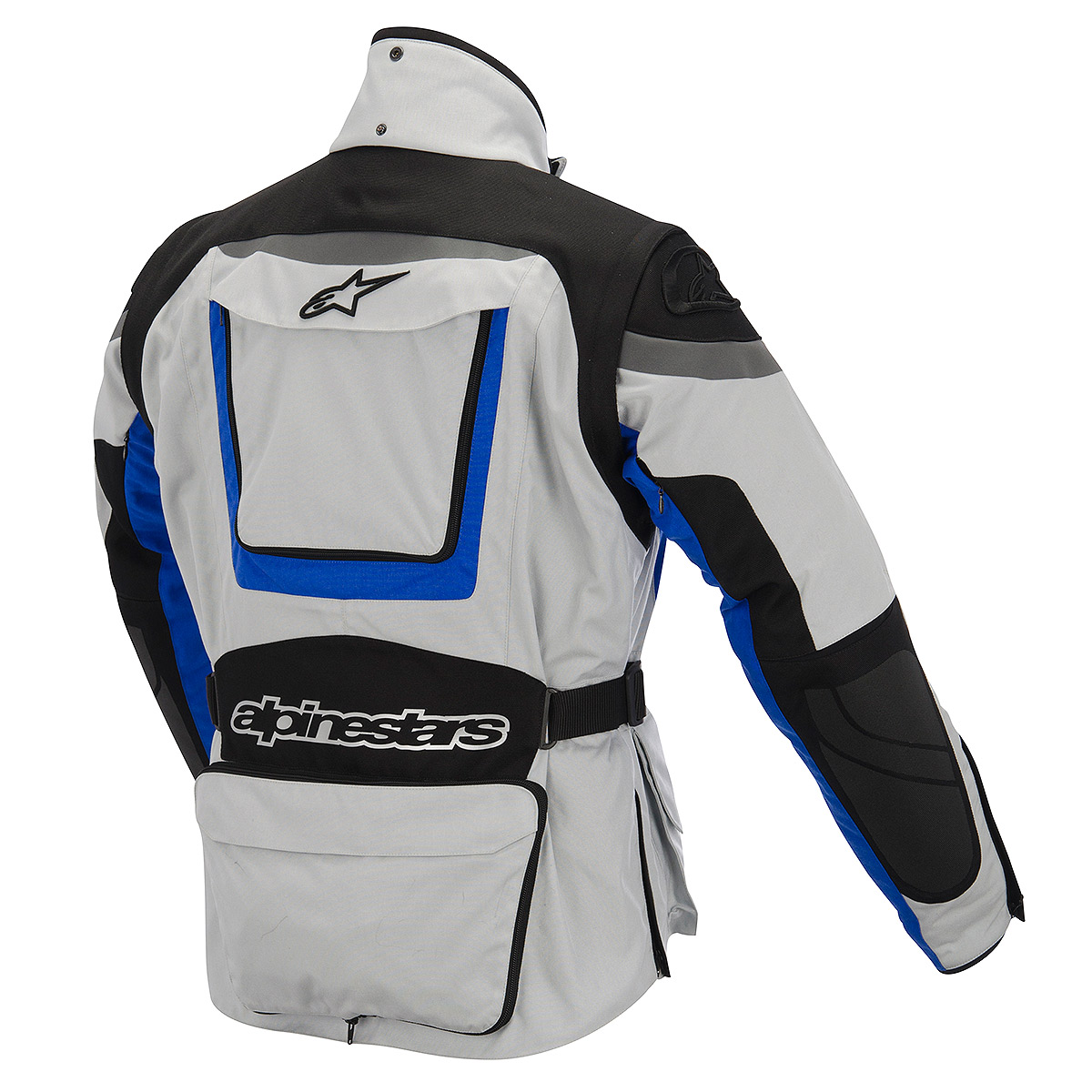 Jaqueta Alpinestars Calama Drystar WP (Cinza e azul/ MotoTurismo/ Impermeável e Respirável)  - Super Bike - Loja Oficial Alpinestars