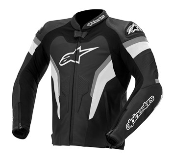 Jaqueta Alpinestars GP Pro Couro (Black/Anthracite)  - Super Bike - Loja Oficial Alpinestars