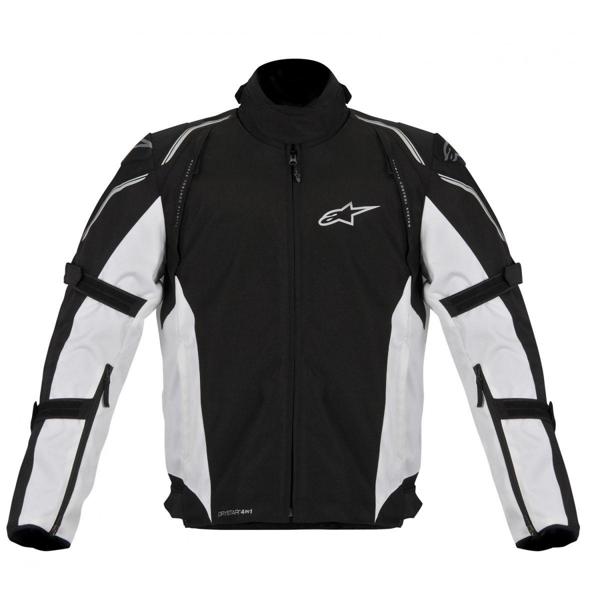 Jaqueta Alpinestars Megaton DRYSTAR® WP (BlackWhite/ 4 em 1)  - Super Bike - Loja Oficial Alpinestars