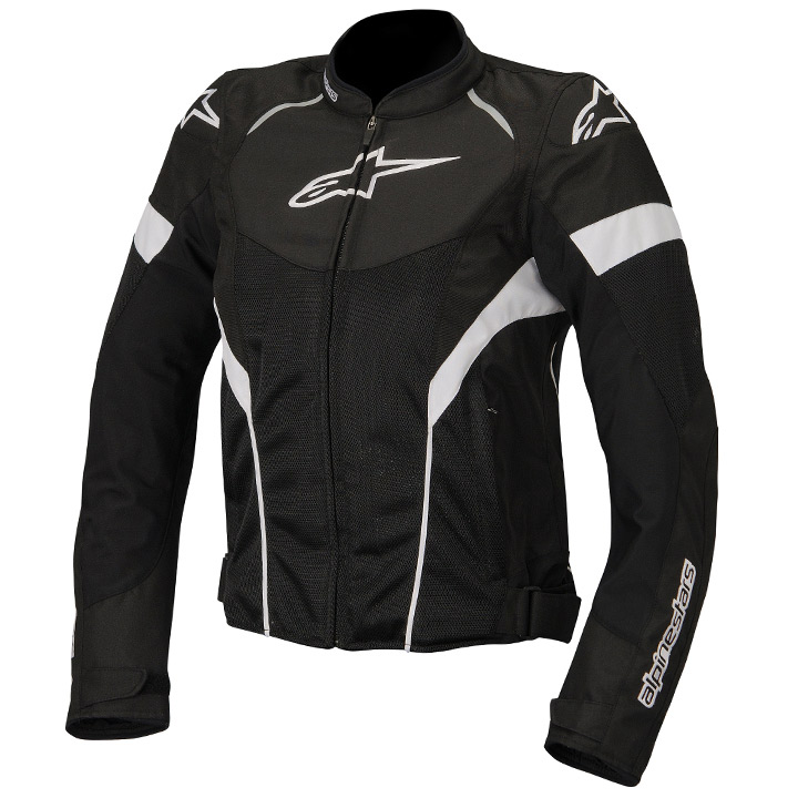 Jaqueta Alpinestars Stella T GP Plus R Air (Preta Branca/ Ventilada/ Feminina)  - Super Bike - Loja Oficial Alpinestars
