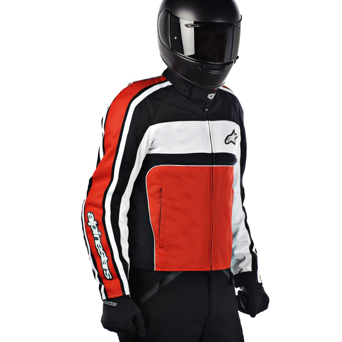 >> Jaqueta Alpinestars T-Dyno WP (Black Red)  - Super Bike - Loja Oficial Alpinestars