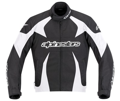 Jaqueta Alpinestars T GP Plus (Black/ White)  - Super Bike - Loja Oficial Alpinestars