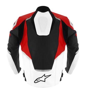 Jaqueta Apinestars Jaws Couro (Preta, Branca e Vermelha)  - Super Bike - Loja Oficial Alpinestars