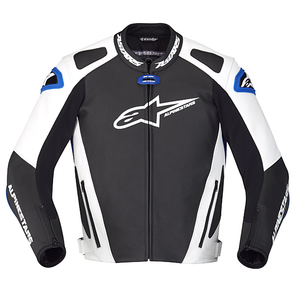 Jaqueta Alpinestars GP Pro Couro (Branca Preta e Azul)  - Super Bike - Loja Oficial Alpinestars