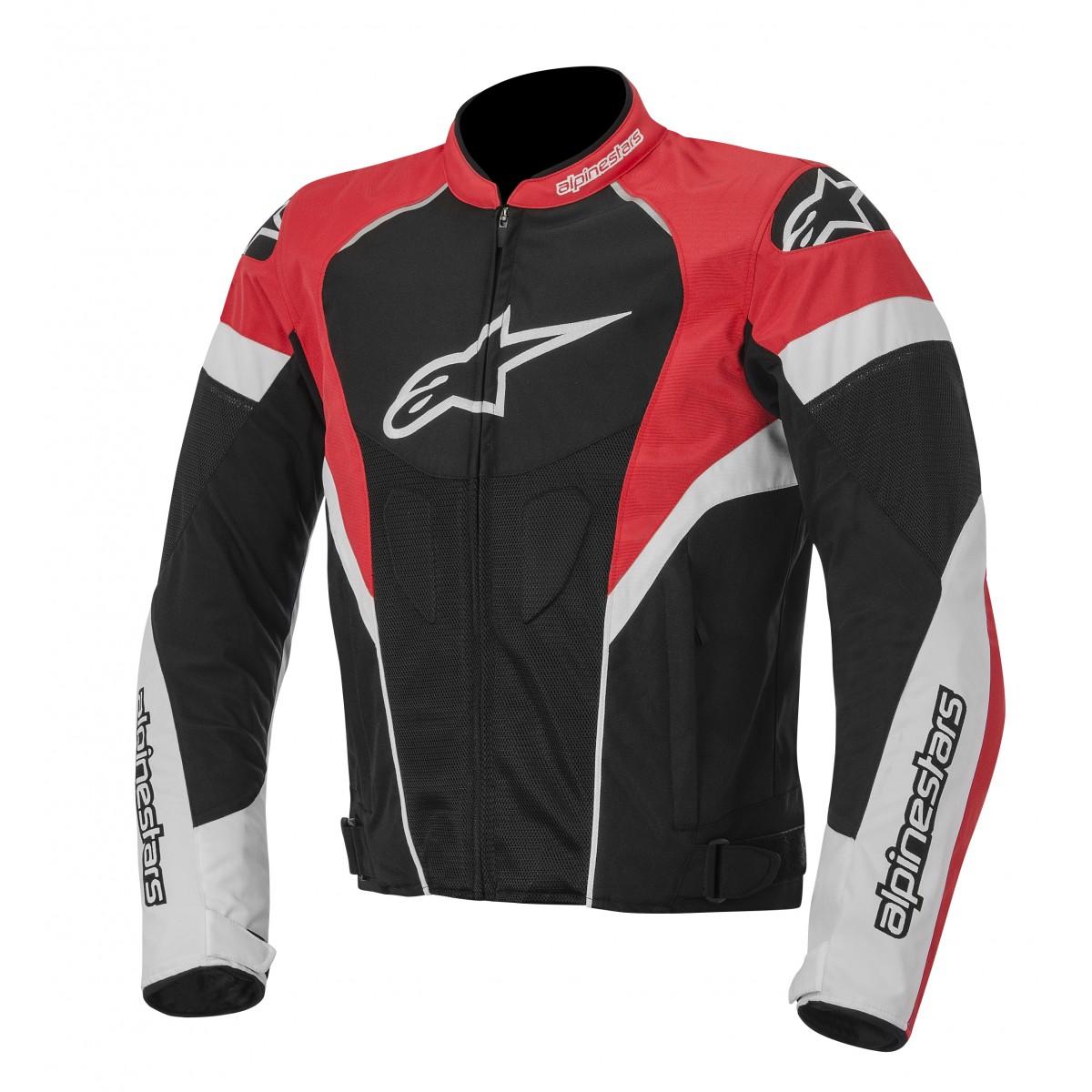 Jaqueta Alpinestars T GP Plus R Air (Tricolor Vermelha/ Ventilada)  - Super Bike - Loja Oficial Alpinestars