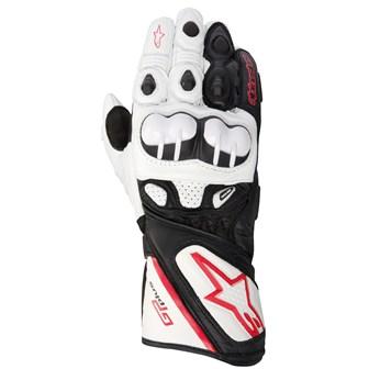 Luva Alpinestars GP Plus Couro (White/Black)  - Super Bike - Loja Oficial Alpinestars