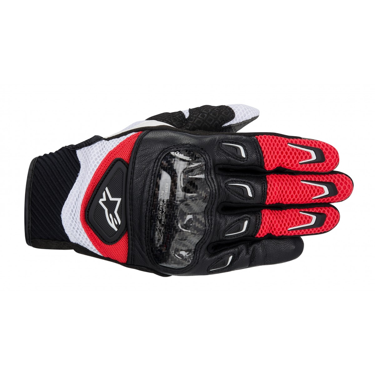 Luva Alpinestars SMX-2 Air Carbon (Vermelha/ Ventilada)  - Super Bike - Loja Oficial Alpinestars