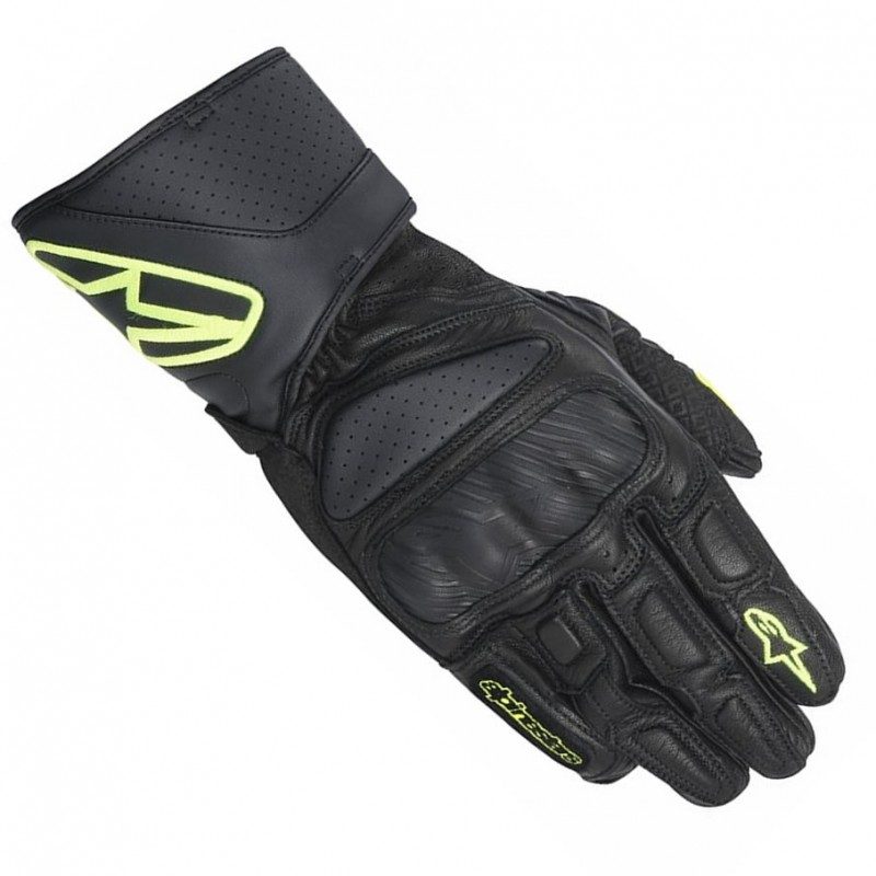 Luva Alpinestars SP-8 (Black Fluo)  - Super Bike - Loja Oficial Alpinestars