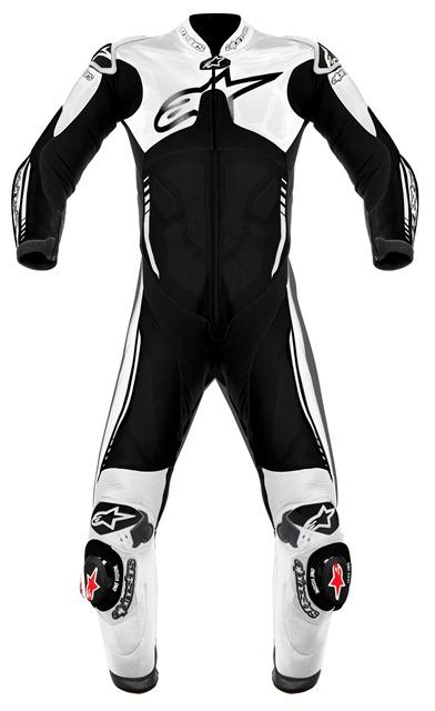 Macacão Alpinestars Atem 1 Peça (White/ Black) Oferta!!  - Super Bike - Loja Oficial Alpinestars