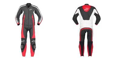 Macac�o Alpinestars Monza Preto e vermelho - 2 Pe�as  - Super Bike - Loja Oficial Alpinestars
