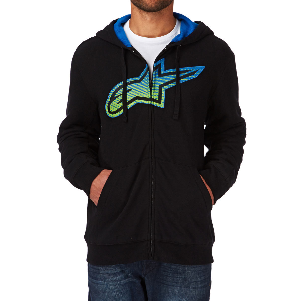 Moleton Alpinestars Passive Zip Fleece Black  - Super Bike - Loja Oficial Alpinestars